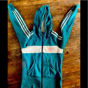 Youth girls small adidas zip up
